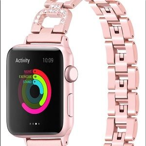 Apple iWatch Band Metal Rhinestone Wristband Strap